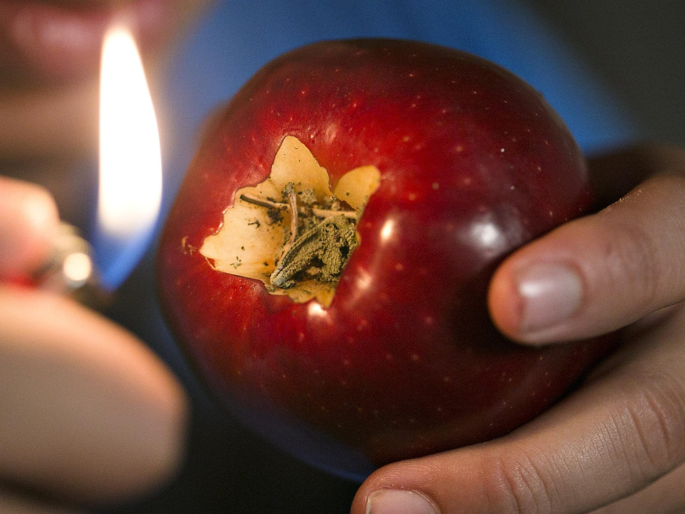 A photo illustration by the News-Leader shows an apple