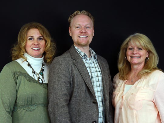 Juli Wiest, sixteen years of performance in the popular women's vocal group, Santa Clara Friends, and as a member of Lieto Voices, Michael Wiest, an accomplished singer, songwriter and pianist and Brenda Crofts Reep, member of the YoMamas piano/cello duo sensation.