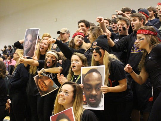 FANS OF THE WEEK: The Bleacher Creatures held their turf Tuesday during the game against Parkside. The Rams' fans showed up and their team got the win, but we're giving the victory of fans of the week to the Creatures.