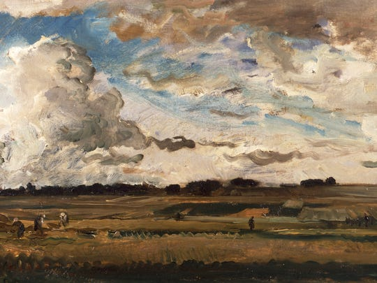 Daubigny, Landscape with Harvesters, 1875, oil on canvas, Collection Museum Gouda, The Netherlands