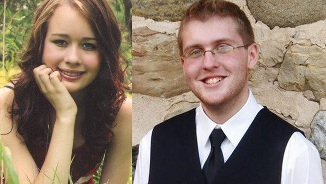 Holly Umentum and Matthew Lyng of Oconto Falls High School.