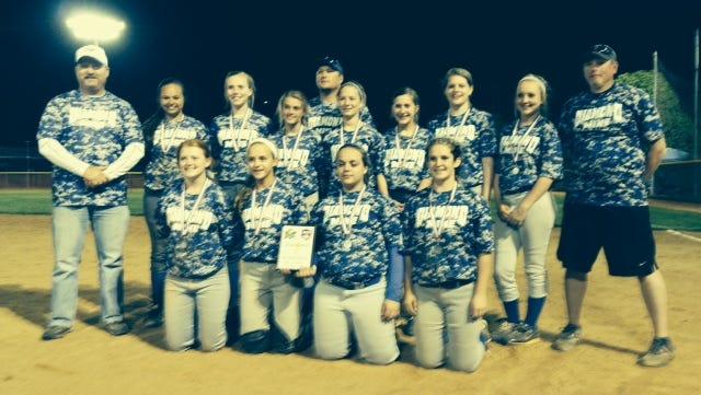 The Diamond Mine 14 and under travel softball team.