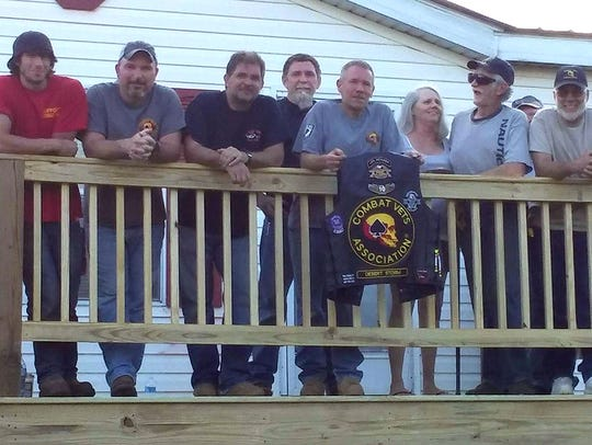 Members of a new Combat Veterans Motorcycle Association