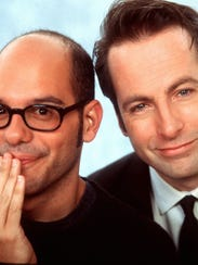"David Cross (left) and Bob Odenkirk starred in ""Mr."