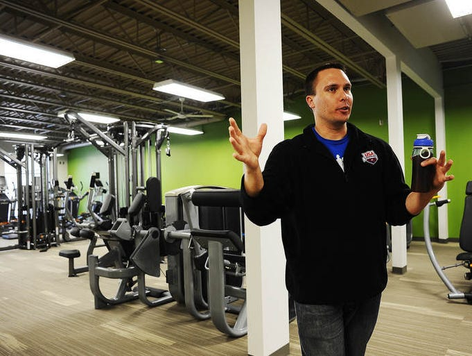 Ryan Fischer, wellness director at EmBe Fitness and Aquatic Center, talks about their recent remodel on Friday, Feb. 14, 2014, in Sioux Falls.