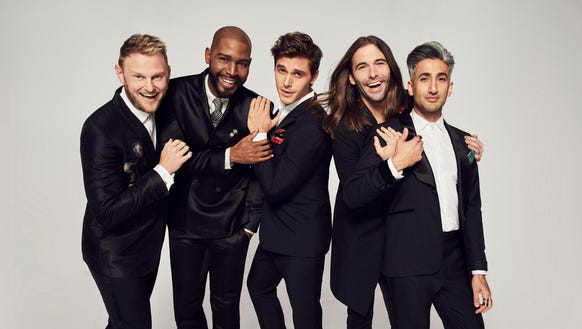 "The Fab Five of the new ""Queer Eye': Bobby Berk, Karamo"