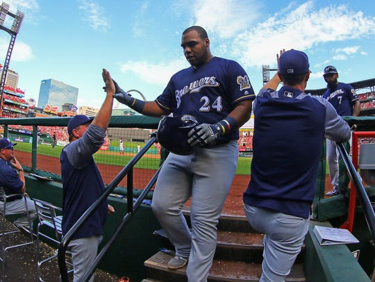 Jesus Aguilar provided a spark off the bench for the