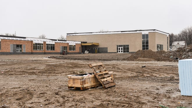 Construction continues at Fairview Elementary, Thursday,  March 1, 2018.  It is the first project funded by the Lansing School District's Pathway Promise, a millage from 2016.