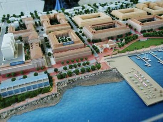Rendering of the model of the Landings at Harborside development project in Perth Amboy.
