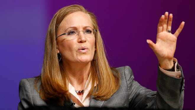 """Arizona Republican gubernatorial candidate Christine Jones did not specifically say whether """"crime"""" referred to property crime, violent crime, or specific types of violent crime, such as homicides."""