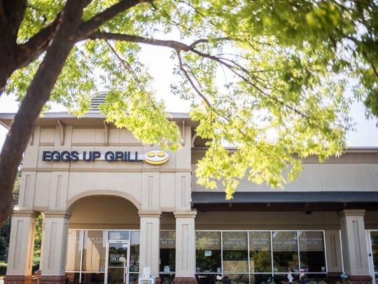 Eggs Up Grill in Anderson has outdoor dining options as well as indoor.