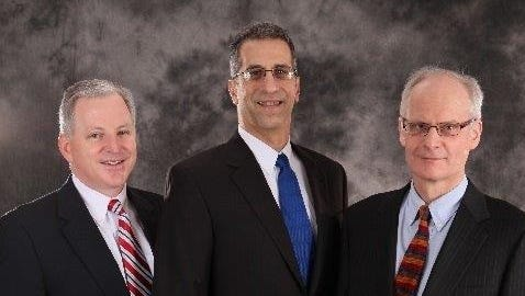 Co-founders of OLEDWorks: Chairman and Chief Executive Officer David DeJoy, left, Chief Technology Officer Michael Boroson, center, and Chief Operating Officer John Hamer.