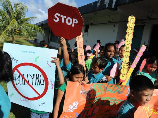In this file photo, Wettengel Elementary School students raise awareness of bullying prevention.
