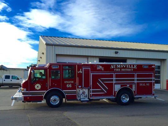 The Aumsville Rural Fire District will celebrate its two new fire engines.