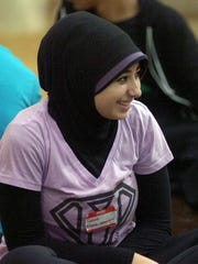 Mercy High student Salwa Hammoud was among the nearly 400 who attended the leadership forum.
