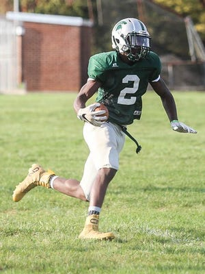 Jordan Ray, who led the York-Adams League in receiving this year for York Tech, committed to play football in college for FCS program Hampton University last week. Amanda J. Cain photo