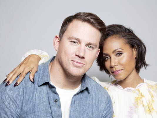 """Actors Channing Tatum, left, and Jada Pinkett Smith pose for a portrait in promotion of the new film, """"Magic Mike XXL,"""" on June 18 in West Hollywood, Calif. The movie opens in the U.S. on July 1."""