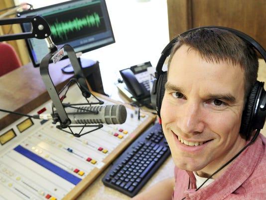 Chambersburg Mayor Darren Brown, seen Friday, hosts a new daily morning show on WEEO radio.