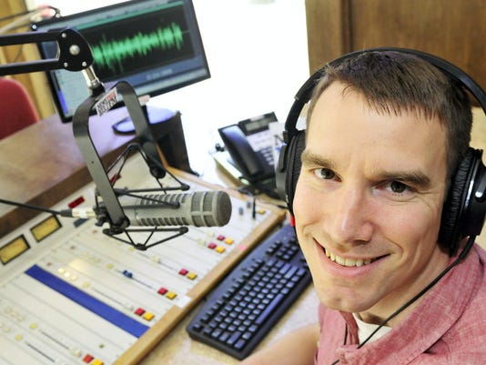 Chambersburg Mayor Darren Brown, seen Friday, hosts a new daily morning show on WEEO radio.