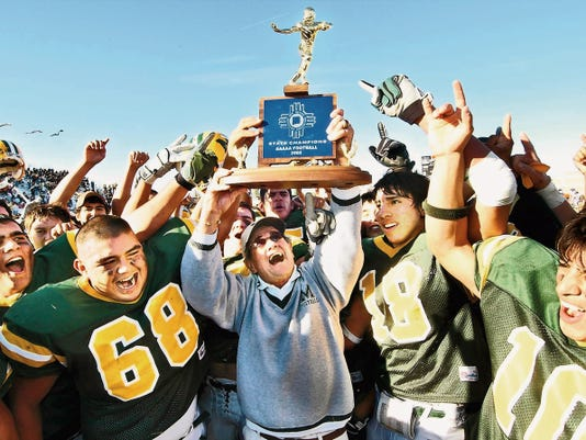Sun-News file photo by Vladimir Chaloupka   Mayfield football coach Jim Bradley won 310 games and seven state championships, including five at Mayfield High. Bradley, a New Mexico Hall of Fame coach, passed away on Wednesday.