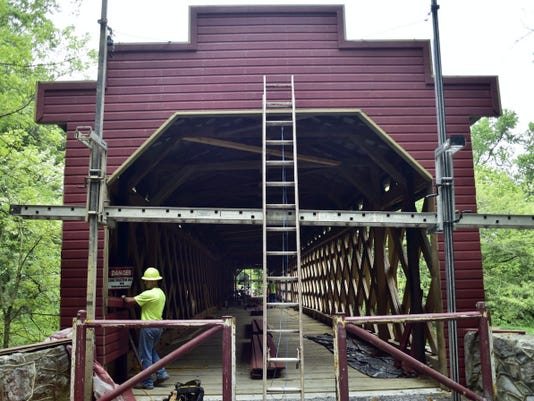 Work to rehabilitate Martins Mill Bridge is completed, and Antrim Township officials will host a ribbon-cutting to celebrate on Oct. 13.