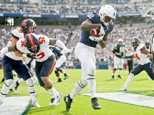Penn State wide receiver Chris Godwin has made a big impact on the Nittany Lions offense.