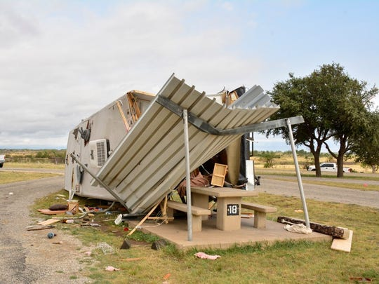 The Friday, June 23, storm that slammed San Angelo damaged RVs and other items at the San Angelo State Park.