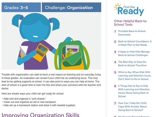Understood.org's First-Day Ready Guide helps families