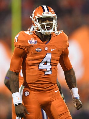 Clemson quarterback Deshaun Watson (4) is among the nation's best in yards a game versus FBS opponents.