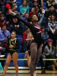 Nyack's Amara Cunningham finishes up her routine in