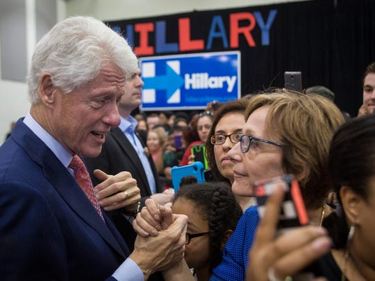Former President Clinton said Hillary is the best presidential