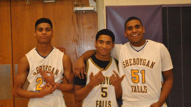 A photo of brothers, from left, Jordan, Juwaun and Jamal Jackson.