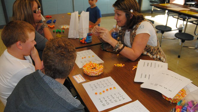 Plainview High School hosted a math night full of games that gave kids a little extra practice.