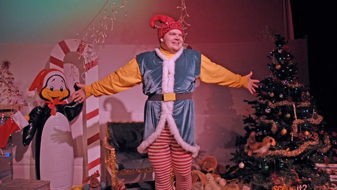"""Dan Klarer is a put-upon department store elf in """"The Santaland Diaries,"""" running thorughout December at Third Avenue Playhouse in Sturgeon Bay. Klarer reprises his role from this 2012 TAP production."""