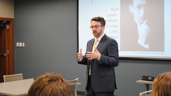 Ken Brown, associate dean of the Tippie School of Business at the University of Iowa, spoke at the Williamsburg Area Chamber of Commerce?s first lunch and learn meeting Tuesday, Feb. 9.