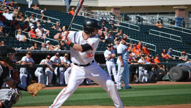 Oregon State third baseman Cadyn Grenier is hitting .390 with seven RBI.