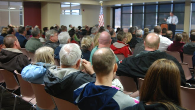 Iron County Republicans meet at SUU to cast their caucus votes.