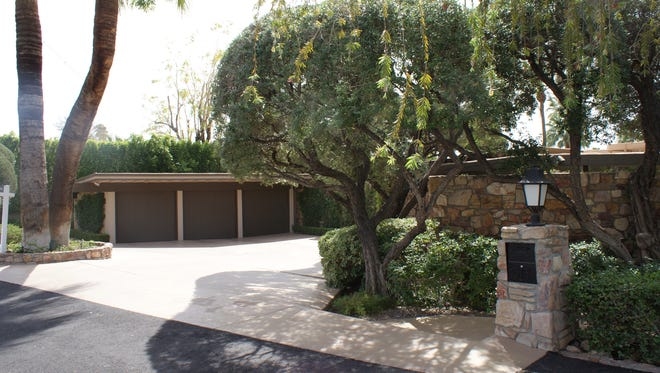 The exterior of Kirk Douglas' former Palm Springs estate, designed by Donald Wexler and built in 1954.