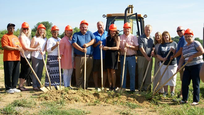 The city of Gallatin broke ground on its new outdoor pool at the Civic Center on Monday, July 18.