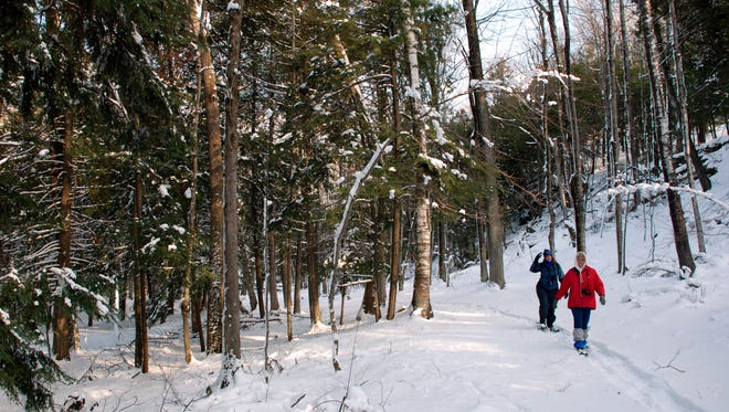 Peninsula State Park in Door County is a great spot for snowshoeing in the winter.