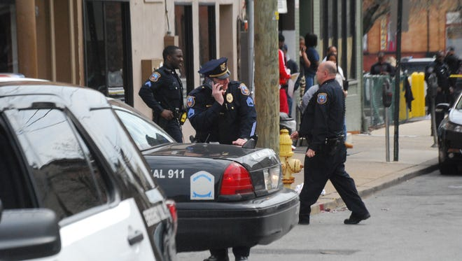 City officers were in the area of Eighth and Tattnall near Libby's Restaurant Saturday afternoon.
