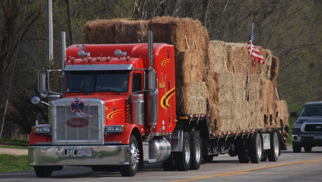 A convoy of help left Sauk City this week with truckers donating the transportation for two loads of fencing and three loads of donated hay, bound for farmers and ranchers in Kansas who were devastated by wildfires. The effort exceeded its organizers expectations.