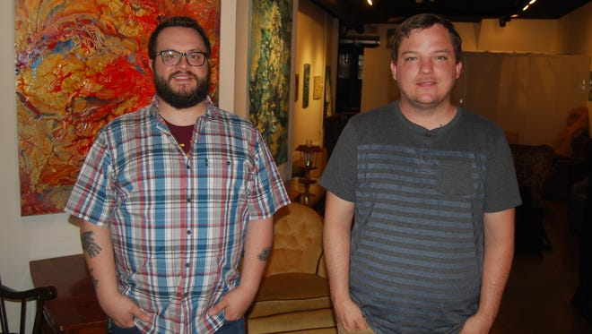 Chris Ashwell, left, and Shawn Braley launched the Street Stories project as way to connect people in various communities through the sharing of stories. The Price Hill Street Stories will kick off July 7 at 3116 Warsaw Ave.