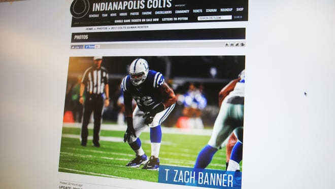 Offensive tackle Zach Banner, a fourth-round draft pick by the Indianapolis Colts, was listed on the team's 53-man roster on Sunday, as announced on the official site of the Indianapolist Colts.  Banner's is the third photo of the team's roster slide show. Banner's mother Vanessa hails from Guam.