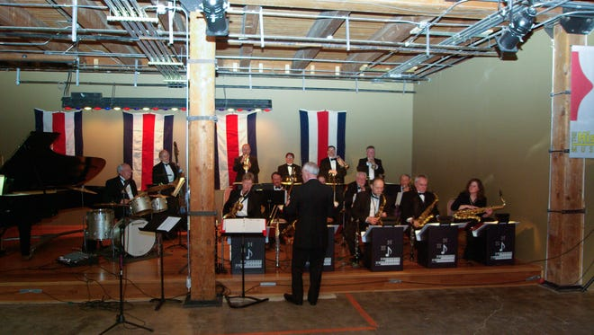 Bud Nicholls directs the band for Jazz Night at the Ozark Sept. 23.