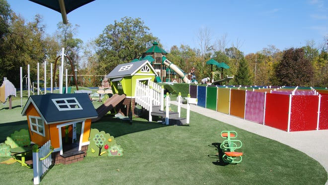 The new West Fork Park playground has areas tailored for specific age groups.