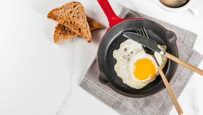 Experts recommend eating a third of your protein needs at breakfast.