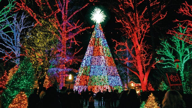 If the weather agrees, the park's rides will be running and the 6.5 million holiday lights will be aglow.