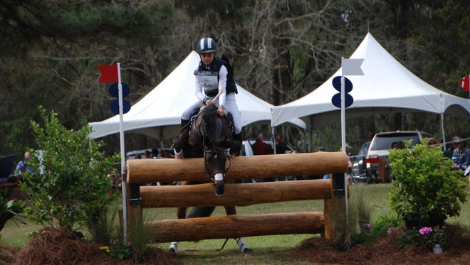 Spectators gasped at a serious refusal at the entry into the first water combination Saturday at the Red Hills Horse Trials.