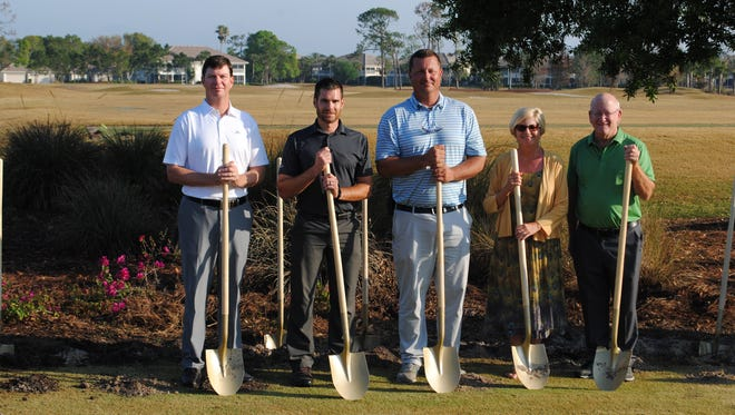 Estero Country Club at The Vines held a golden shovel ceremony on Monday, March 19, 2018, celebrating its upcoming $2.5 million renovation. The course is scheduled to reopen at the end of October.